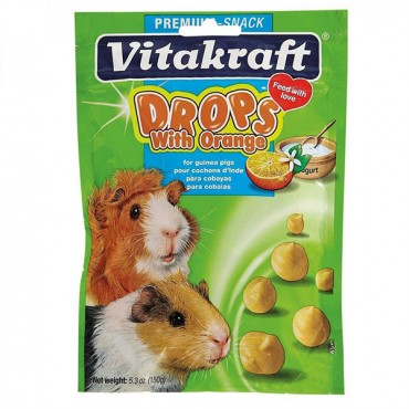 VitaKraft Drops with Orange for Guinea Pigs - 5.3 oz - 2 Pieces