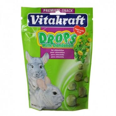 Vitakraft Drops with Dandelion for Chinchillas - 5.3 oz - 2 Pieces