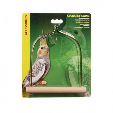 Living World Cockatiel Wood Swing - 5.5 in. Long x 7 in. High - 4 Pieces
