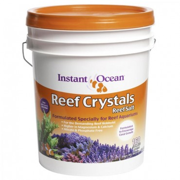 Instant Ocean Reef Crystals - 5 Gallon Bucket - Treats 160 Gallons