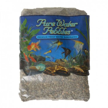 Pure Water Pebbles Aquarium Gravel - River Jack - 5 lbs - 6.3-9.5 mm Grain - 2 Pieces