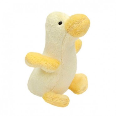 Lil Pals Ultra Soft Plush Dog Toy - Duck - 5 in. Long - 4 Pieces