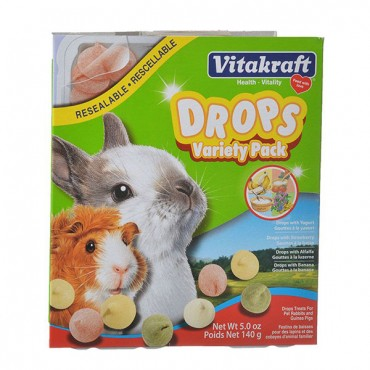 VitaKraft Drops Variety Pack for Small Animals - 5 oz - 2 Pieces