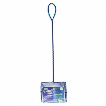 Penn Plax Quick-Net - 5 in. Wide Net with Long Handle - 5 Pieces