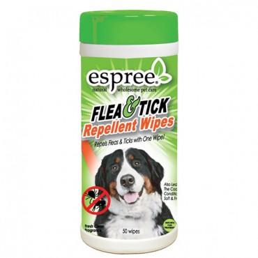 Espree Flea and Tick Repellent Wipes - 50 Count