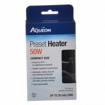 Aqueous Preset Aquarium Heater - 50 Watt - Aquariums up to 20 Gallons