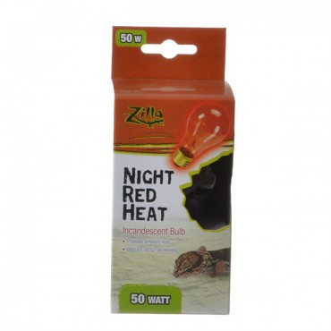 Zilla Incandescent Night Red Heat Bulb for Reptiles - 50 Watt - 2 Pieces