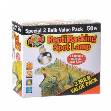 Zoo Med Repti Basking Spot Lamp Replacement Bulb - 50 Watts - 2 Pack