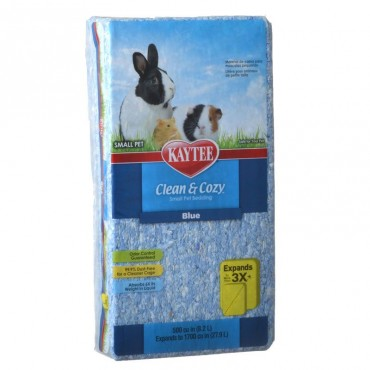Kaytee Clean and Cozy Small Pet Bedding - Blue - 500 Cubic Inches