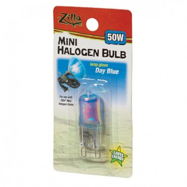 Zilla Mini Halogen Bulb - Day Blue - 50 W - 2 Pieces