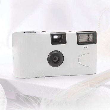 White Single Use Camera – Solid Color Design - 2 Pieces