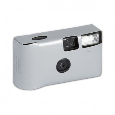 Metallic Silver Single Use Camera – Solid Color Design - 2 Pieces