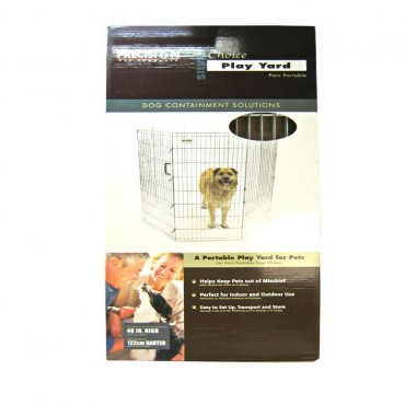 Precision Pet Silver Choice Exercise Pen Model SXP - 48 Tall and 4 x 4 Square