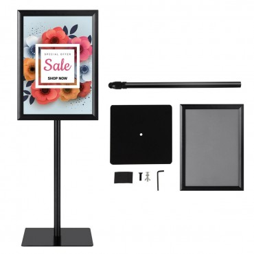11 In. x 17 In. Adjustable Aluminum Pedestal Poster Graphics Stand Holder