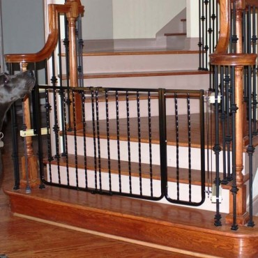 Wrought Iron Decor Dog Gate Extension