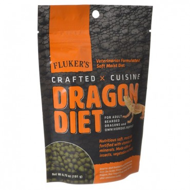 Flukers Crafted Cuisine Dragon Diet - Adults - 6.5 oz - 2 Pieces
