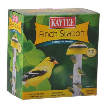 Kaytee Finch Station Sock Feeder - 6 in. Diameter x 21 in. Tall