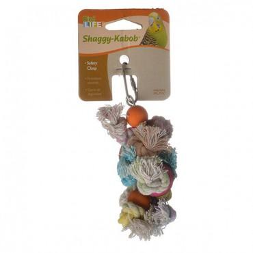 Penn Plax Bird Life Shaggy-Kabob Parakeet Toy - 6 in. Long - 3 Pieces