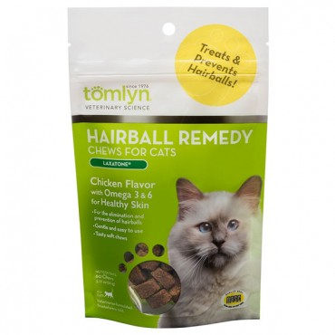 Tomlyn Hairball Remedy Chews for Cats - 60 Count