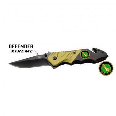 7 5/8 in. Brown & Black Folding Knife Heavy Duty Steel New w/ Bomb Squad Plate