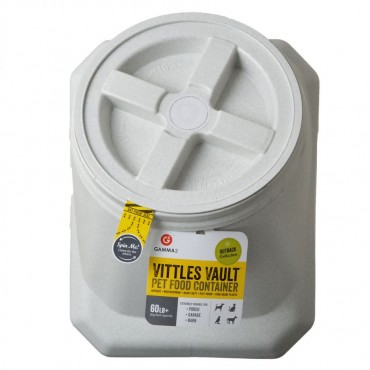 Vittles Vault Airtight Pet Food Container - Stackable - 60 lb Capacity