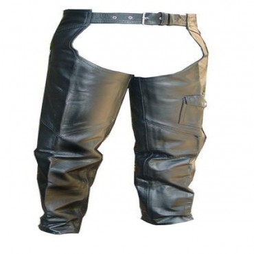 Heavy Duty Motorcycle Leather Biker Chaps New