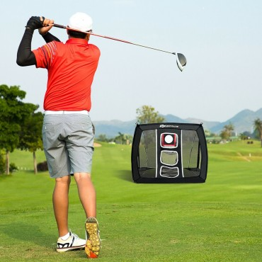 Golf Swing Practice Chipping Net With Bag
