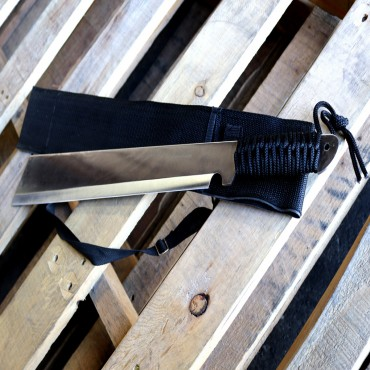 20 in. Machete Full Tang with Black Sheath and Strap