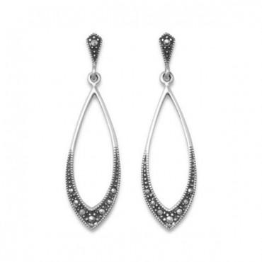 Marcasite Drop Earrings