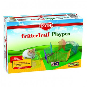 Kaytee CritterTrail Playpen with Protective Mat - 66 in. Long x 9 in. High