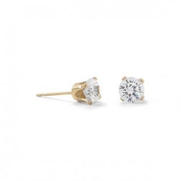 14/20 Gold Filled 5mm CZ Stud Earrings