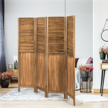 4 Panel Folding Privacy Room Divider Screen Home Furniture