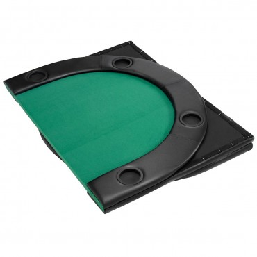 79 In. x 36 In. 8 Players Texas Holdem Foldable Poker Table Top
