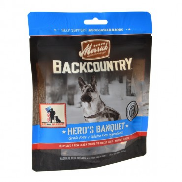 Merrick Backcountry Hero is Banquet Dog Treats - 6 oz