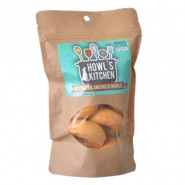 Howls Kitchen Bacon, Egg and Cheese Flavor Bagels for Dogs