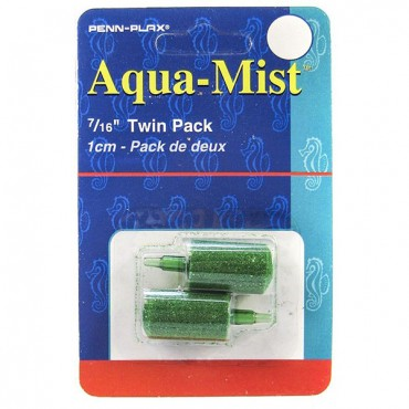 Penn Plax Aqua-Mist Cylinder Air stone - 7/16 in. Long Air stone - 2 Pack - 10 Pieces