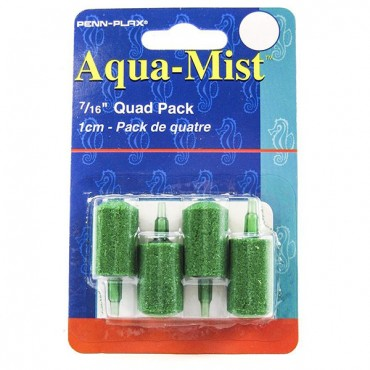 Penn Plax Aqua-Mist Cylinder Air stone - 7/16 in. Long Air stone - 4 Pack - 10 Pieces