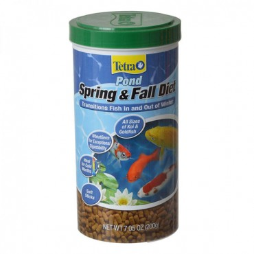 Tetra Pond Spring and Fall Diet Fish Food - 7.5 oz
