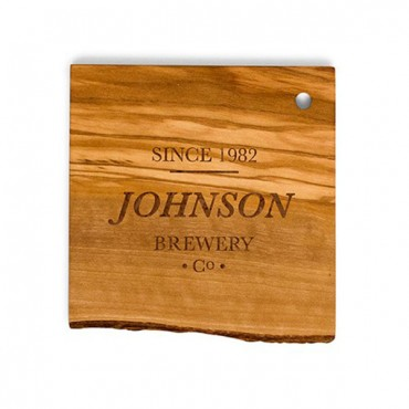 Personal Brewery Rustic Olive Wood Coasters