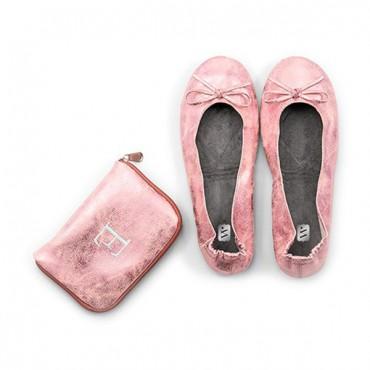 Foldable Flats Pocket Shoes - Pink