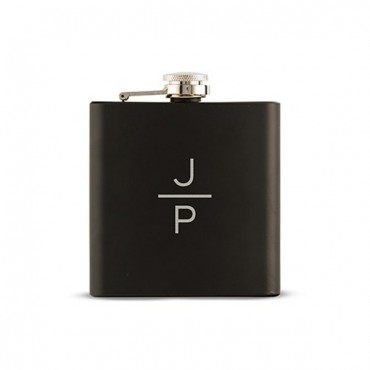 Personalized Monogram Black Hip Flask