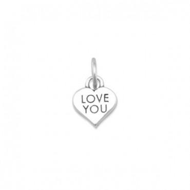 LOVE YOU Heart Charm