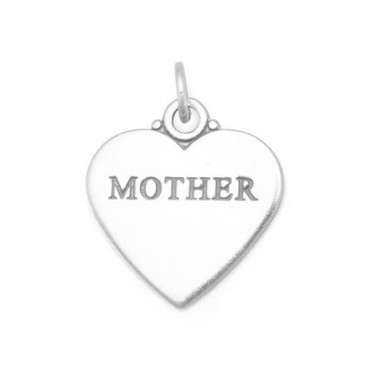 Oxidized - MOTHER - Heart Charm