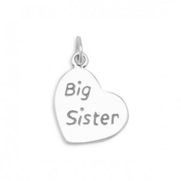 Oxidized - Big Sister - Heart Charm