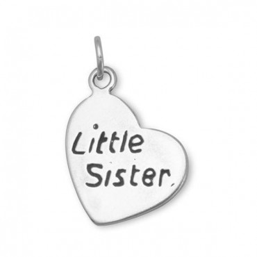 Oxidized - Little Sister - Heart Charm