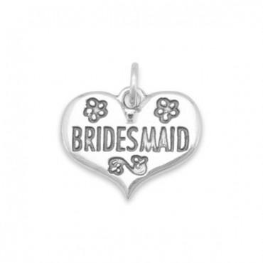 Oxidized Bridesmaid Charm