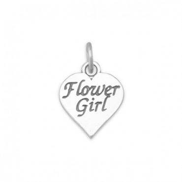 Oxidized Flower Girl Charm