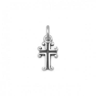 Oxidized Cross Charm