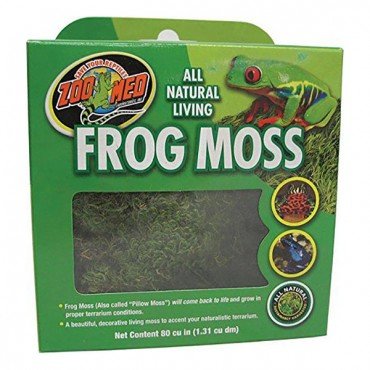 Zoo Med All Natural Living Frog Moss - 80 Cubic Inches - 2 Pieces