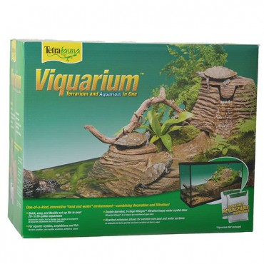 Tetrafauna Viquarium Rocks with Bridge Decorative Filter - 80 GPH - 18 in. L x 11.5 in. W x 6.5 in. H - 20-55 Gallon Tank